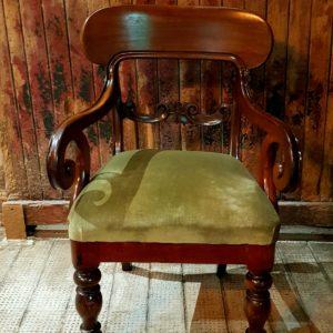 Prop Hire Fife Antique Green Armchair Wedding Furniture