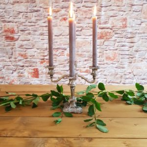 Antique Silver Candelabra £7