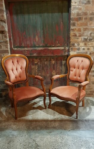 Hire Scotland Wedding Props Antique Armchairs