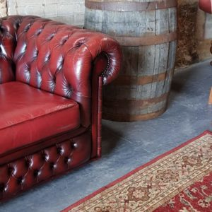 Wedding Prop Hire Scotland Oxblood Chesterfield Seating Area