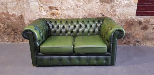 Hire Green Chesterfield Wedding Prop Furniture Hire Scotland