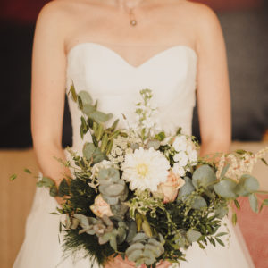 Wild rustic wedding flowers bridal bouquet