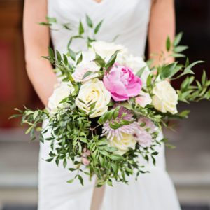 Rustic summer wedding flowers