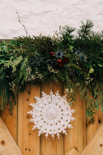 Winter Wedding Foliage Garland