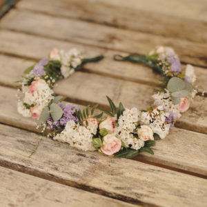 Floral Crown rustic wild flowers wedding Scotland