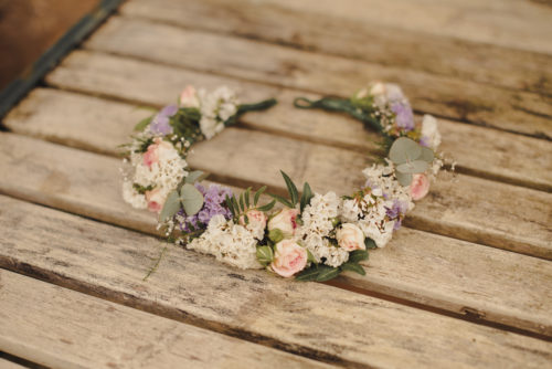 Floral Crown rustic wild flowers wedding Scotland