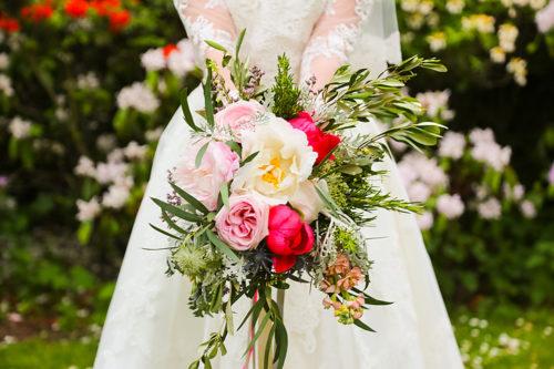 Bright florals vintage wedding bouquet