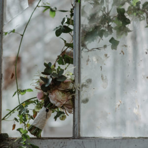 Spring rustic wedding bouquet