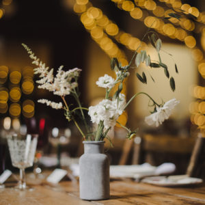 Bottles of flowers Wedding Centrepiece