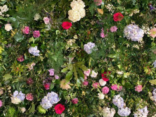 Flower Wall Wedding Ceremony Fife Florist
