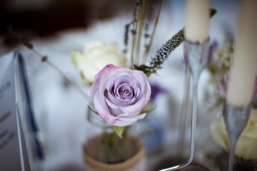 Jar Flowers Wedding Centrepiece