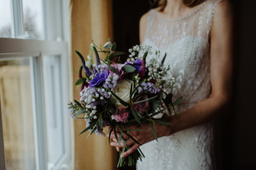 Spring rustic wedding bouquet