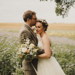 Rustic locally sourced wedding flowers Fife