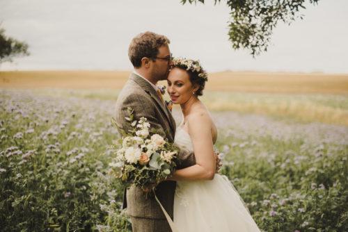 Rustic locally sourced wedding flowers Fife