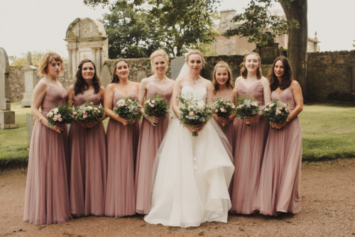 Wild and rustic wedding flowers Fife