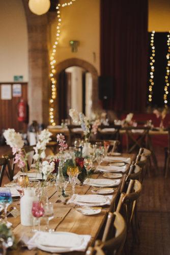 Rustic wedding table centrepieces