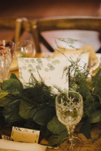 Centrepiece Greenery table foliage runner