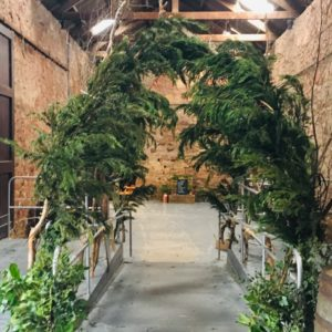 Hanging Greenery foliage installation