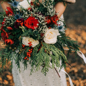 Winter Wedding wild bridal flowers