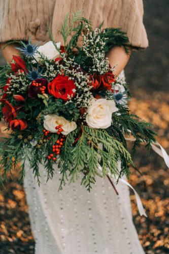 Winter Wedding wild bridal flowers