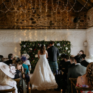 Flower Wall Fife Wedding Flowers Ceremony