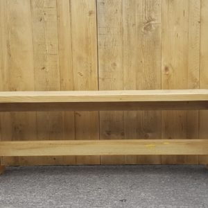 Rustic Wooden Bench seats 3