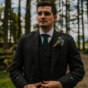 Rustic buttonhole Wedding Flowers Fife Scotland