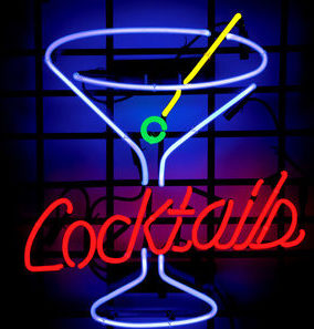 Cocktail neon sign to hire
