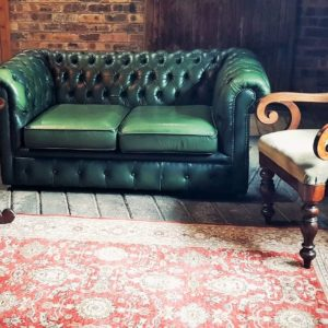 Green Chesterfield Seating area