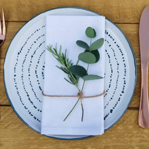 Herb place setting napkin decor