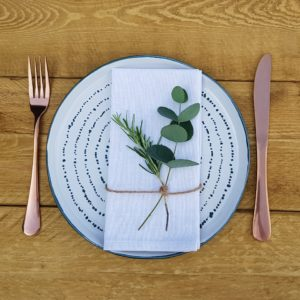 Napkin herb decoration