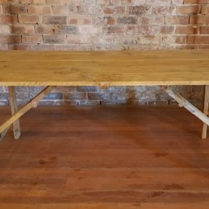 Rustic Wooden Trestle Table
