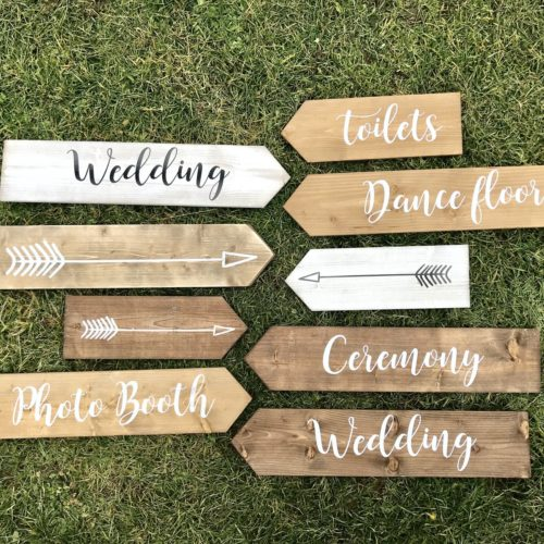 Wooden Plank Wedding Signs