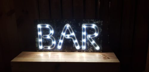 LED Neon Bar Sign for hire Scotland