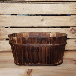 Wooden planter to hire wedding Scotland