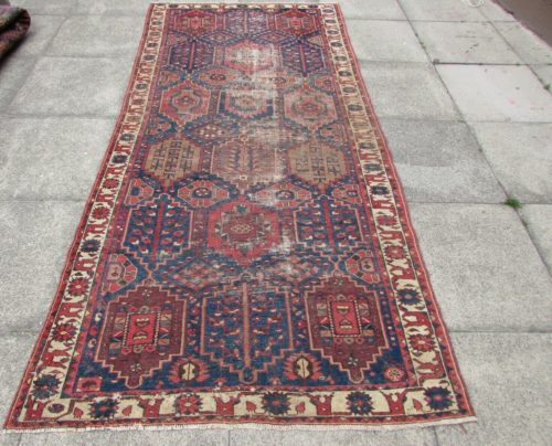 Antique-Traditional-Hand-Made-Persian-Oriental-Blue-Red-Wool-Rug-290x135cm Rug for hire