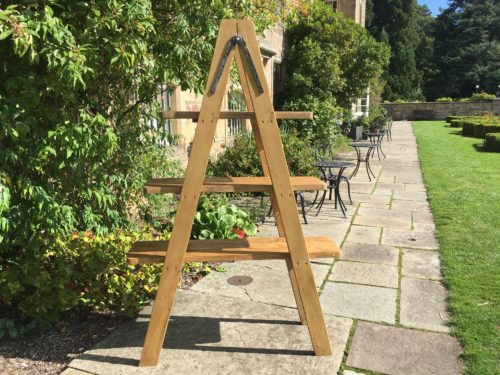 Wooden A Frame Display Drinks Stand Hire Scotland