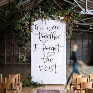 Wedding backdrop Signage