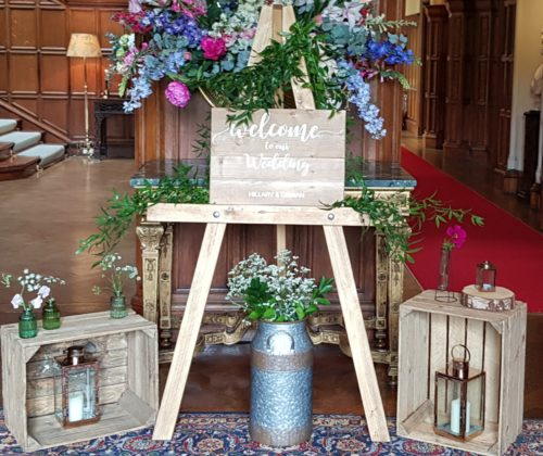 Welcome to the Wedding Sign and Easel Wedding Hire