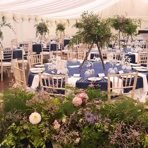 Wild Wedding Flowers Fife Centrepieces Top Table Display