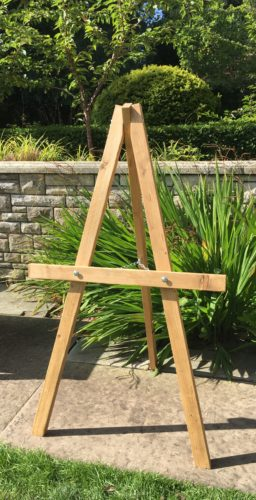 Wooden Easel wedding hire Scotland