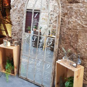 Gothic Arch Mirror 169cm x 67cm Hire Wedding Props