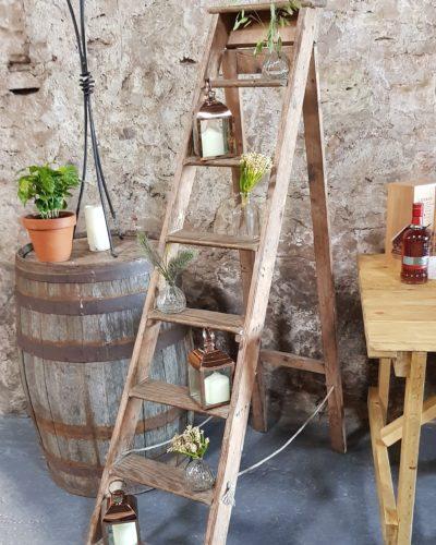 Rustic Ladder Display Wedding Hire Scotland