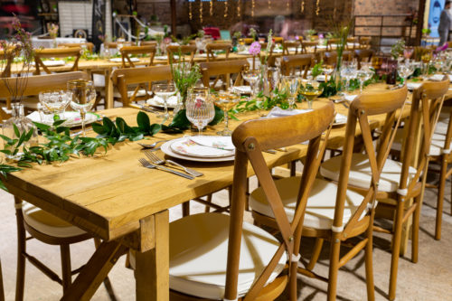 Trestle Tables & Crossback Chairs showing off!