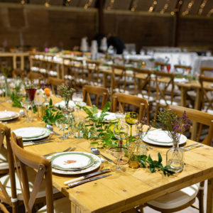 Trestle Tables and Crossback Chairs Hire Scotland
