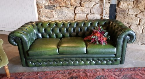 Green 3-seater Chesterfield Sofa for Hire Scotland