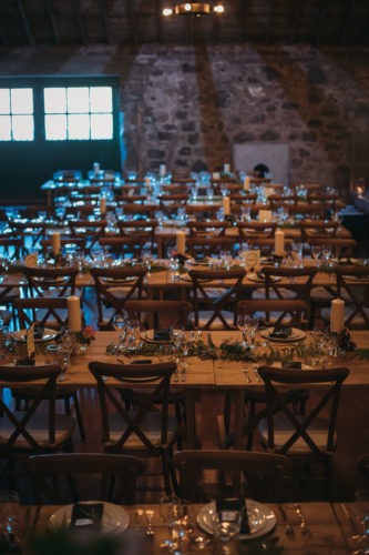 Rustic Wooden Trestle Tables and Chairs